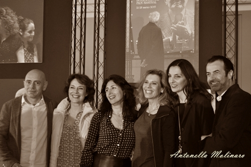 Gli attori Rolando Ravello, Antonella Attili, Valeria Cavalli, Daniela Poggi, Francesca D'Aloja, Andrea Occhipinti