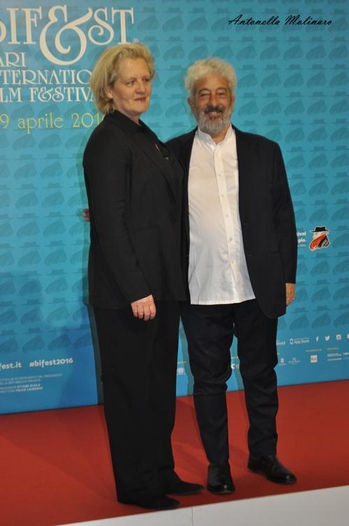 La scenografa Livia Borgognoni ed il regista Gianfranco Cabiddu