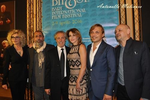 Il traduttore: Eva Grimaldi, il regista Massimo Natale, Marcello Mazzarella e Claudia Gerini