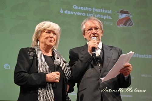 La regista Margarethe Von Trotta e Felice Laudadio