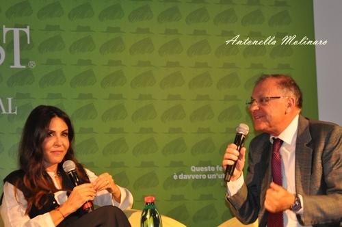 L'attrice Sabrina Ferilli con il critico Franco Montini