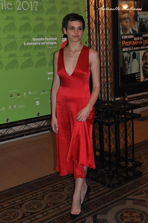 L'attrice Sara Serraiocco