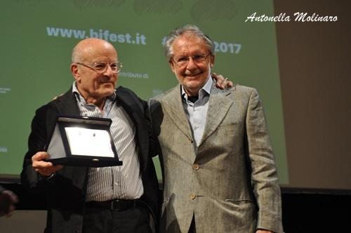 Volker Schlöndorff con Felice Laudadio
