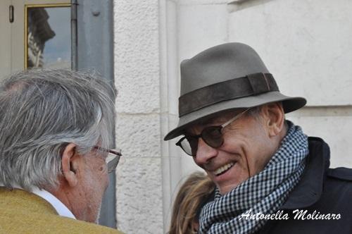 Il regista Andrej Konchalovsky con Felice Laudadio