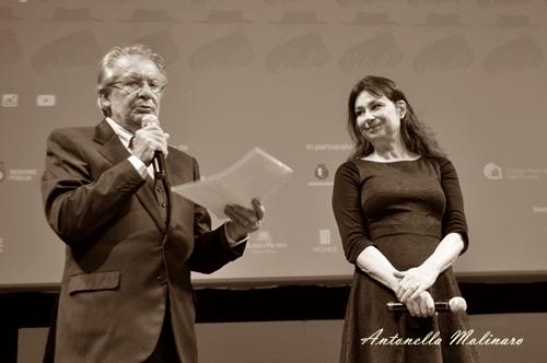 La regista e sceneggiatrice Francesca Archibugi con Felice Laudadio