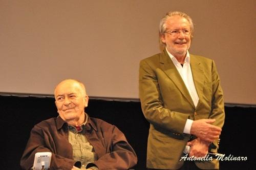 Il regista Bernardo Bertolucci con il direttore artistico Felice Laudadio