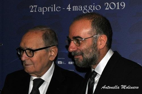 I Premi Oscar Ennio Morricone e Giuseppe Tornatore