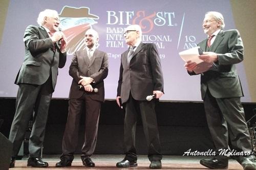 I tre premi Oscar Ennio Morricone, Giuseppe Tornatore, Gianni Quaranta