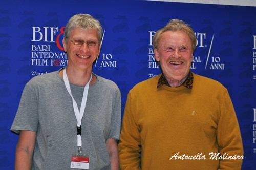 Il regista Sergey Livnev e l'attore Daniel Olbrychski per Van Goghs