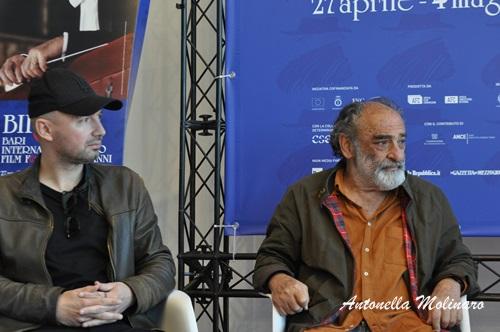 Il regista Alessandro Capitani e l'attore Alessandro Haber