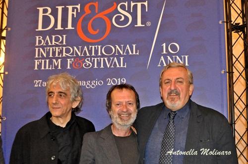 Sergio Rubini, Rocco Papaleo e Michele Emiliano