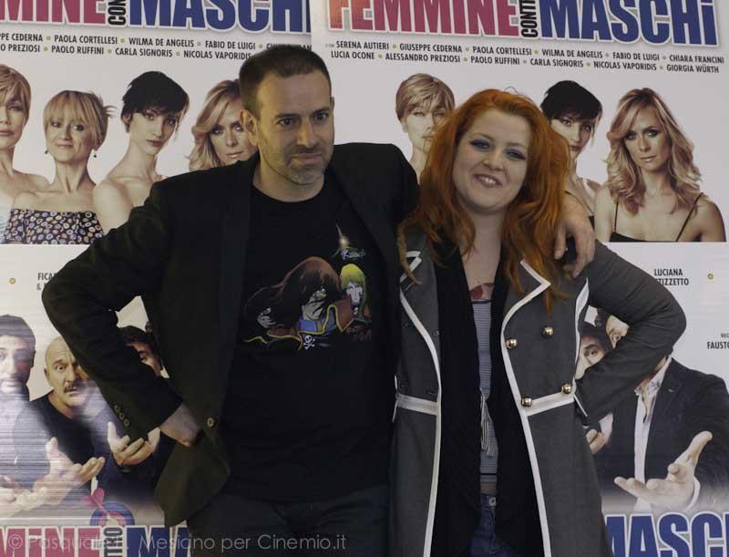 Fausto Brizzi con Noemi