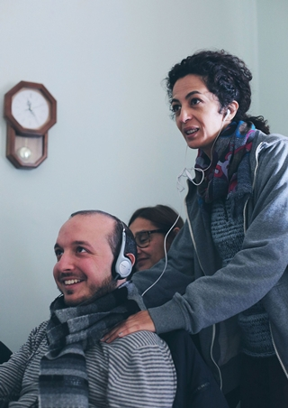 Nadia Kibout con Lorenzo Sepalone