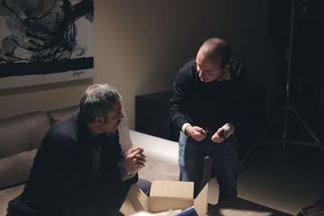 Fabrizio Ferracane con Lorenzo Sepalone