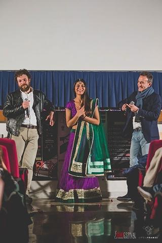 Gigi Roccati, la protagonista Nav Ghotra ed il direttore artistico Michele Suma