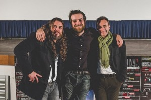 Il regista Michele Vannucci con l'attore Mirko Frezza ed il direttore Michele Suma