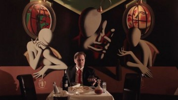 Mark Kostabi in una scena del film My Italy