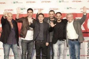 Guido Lombardi con il cast al festival del cinema di roma