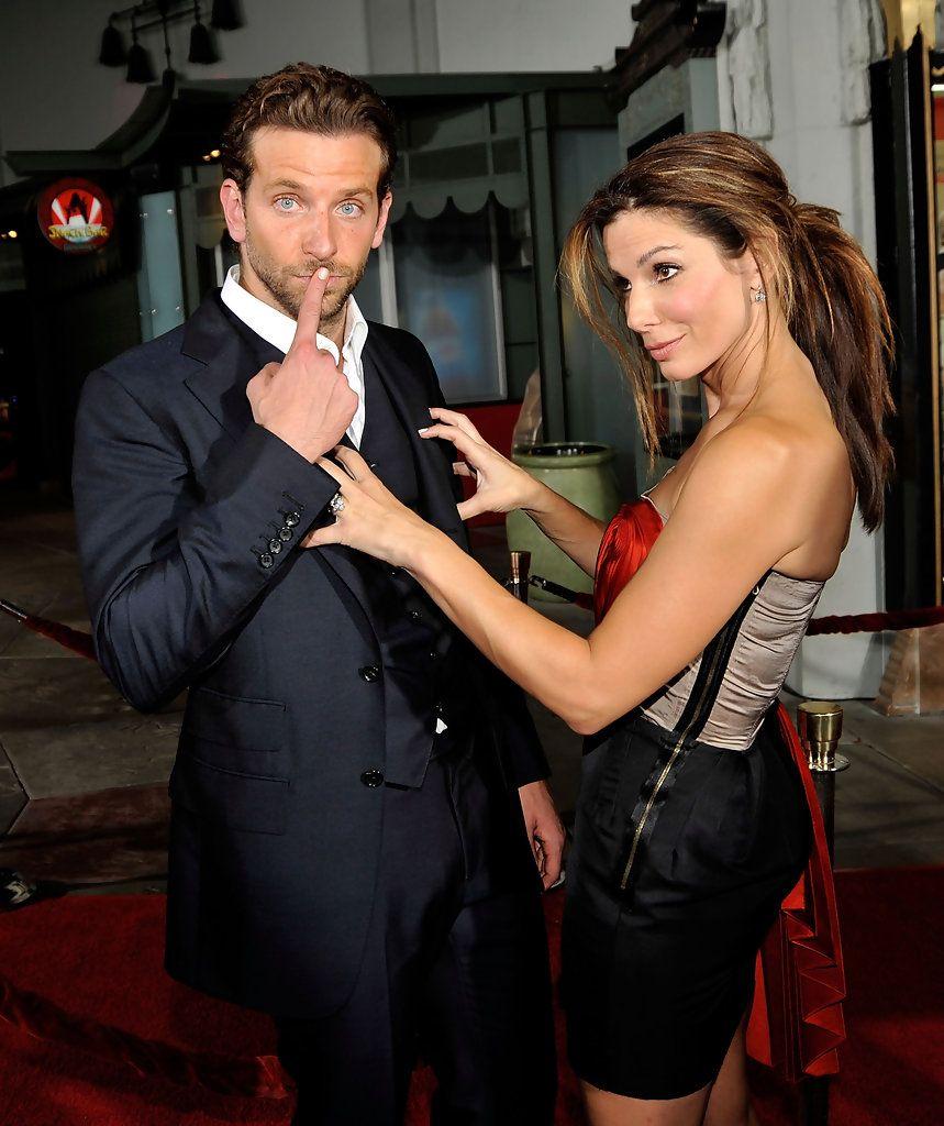 Bradley Cooper e Sandra Bullock alla premiere di A proposito di Steve