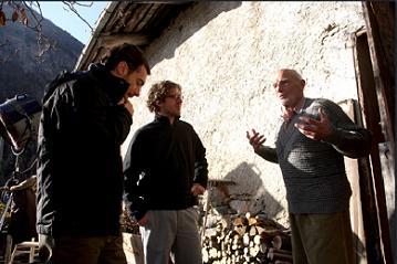 Massimiliano Camaiti tra Elio Germano e Philippe Leroy