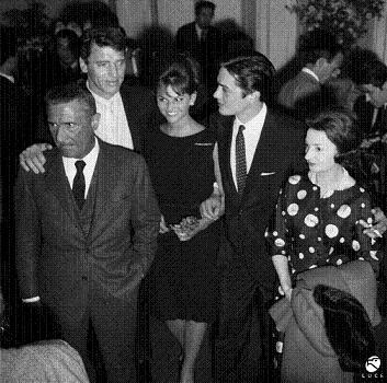 Paolo Stoppa, Burt Lancaster, Rina Morelli e Claudia Cardinale