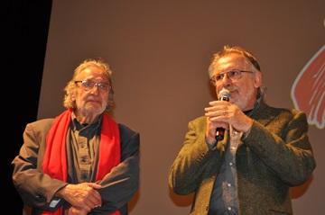 Luis Bacalov con il direttore artistico del BIF&ST Felice Laudadio