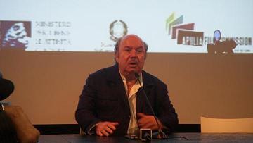 Lino Banfi durante la conferenza stampa