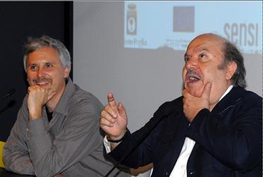Cristiano Bortone e Lino Banfi