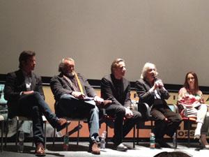 una foto dalla conferenza stampa del film