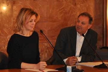 Margherita Buy con il critico Franco Montini
