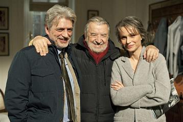 Fabrizio Bentivoglio, Pupi Avati e Francesca Neri - foto di Andrea Catoni