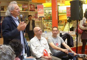 Da sinistra Nico Cirasola, Luca Cirasola e Mingo De Pasquale