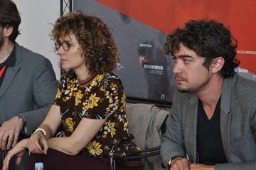 Valeria Golino e Riccardo Scamarcio durante la presentazione di 'Miele'