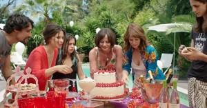 da sinistra: Valentina Cervi, Camilla Calderoni, Veruska Rossi, Barbora Bobulova in una scena del film Lasciami per sempre