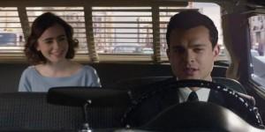 Lily Collins e Alden Ehrenreich in una scena del film 'L'eccezione alla regola'