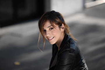 L'attrice di In bici senza sella Emanuela Mascherini