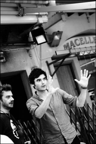 Paolo Briguglia sul set del corto
