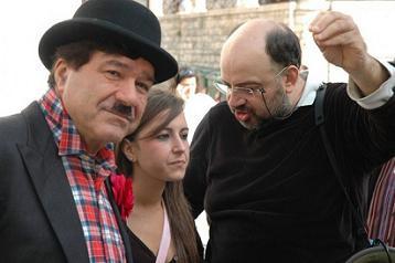 A destra il regista Vito Giuss Potenza
