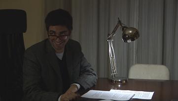 Una scena del corto