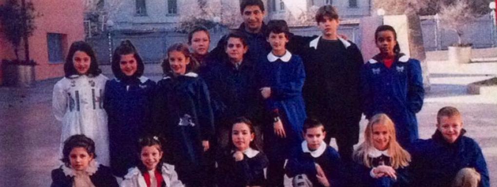 Il Maestro Emilio con i suoi allievi in SEI FORTE MAESTRO