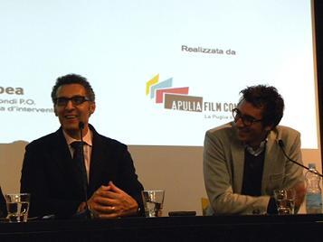 John Turturro e Silvio Maselli, direttore dell'Apulia Film Commission