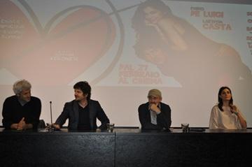 Domenico Procacci, Fabio De Luigi, Giovanni Veronesi e Valeria Solarino