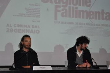 Il regista Mario Bucci e lo sceneggiatore Fabio Fanelli