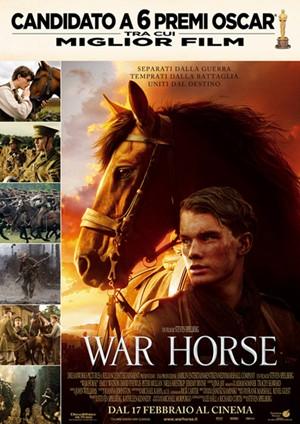 locandina ufficiale del film War Horse di Steven Spielberg