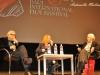 Il regista Paolo Taviani, la giornalista Maria Pia Fusco e la costumista Lina Nerli Taviani