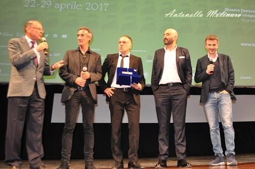 Fabrizio Testini, Francesco Acquaroli, Nicola Guaglianone e Valentino Picone