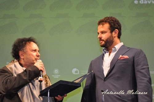Il musicista di Indivisibili Enzo Avitabile ed il regista Edoardo De Angelis
