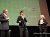 L'attore Riccardo Scamarcio con la regista Margarethe Von Trotta ed il direttore del BIF&ST Felice Laudadio