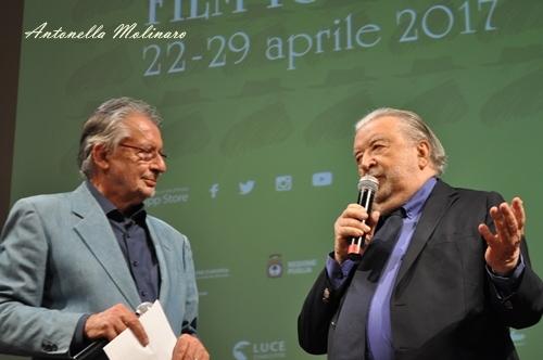 Il regista Pupi Avati con il direttore artistico Felice Laudadio