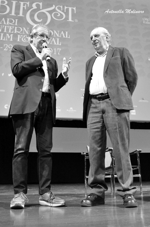 Il regista Dario Argento al BIF&ST con Felice Laudadio